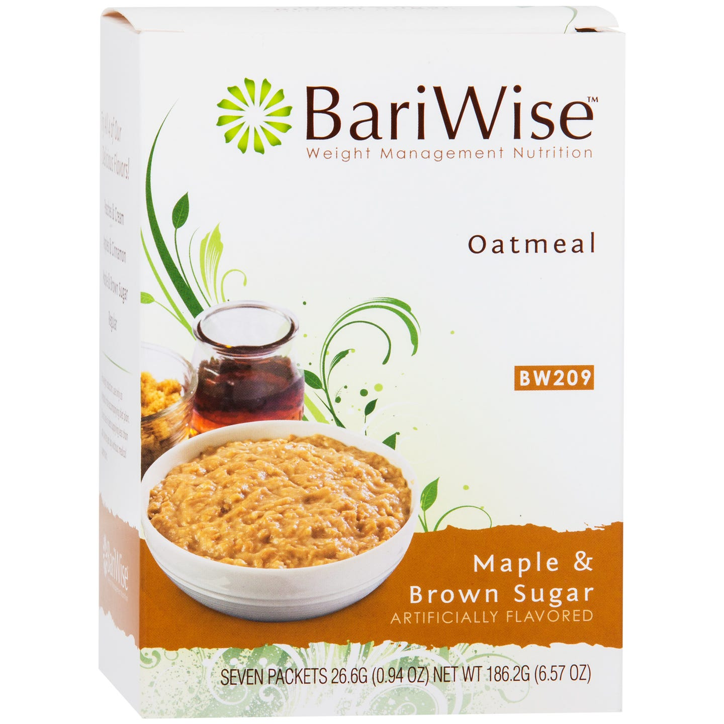 Protein Diet Hot Oatmeal Maple and Brown Sugar (7 Ct) - BariWise