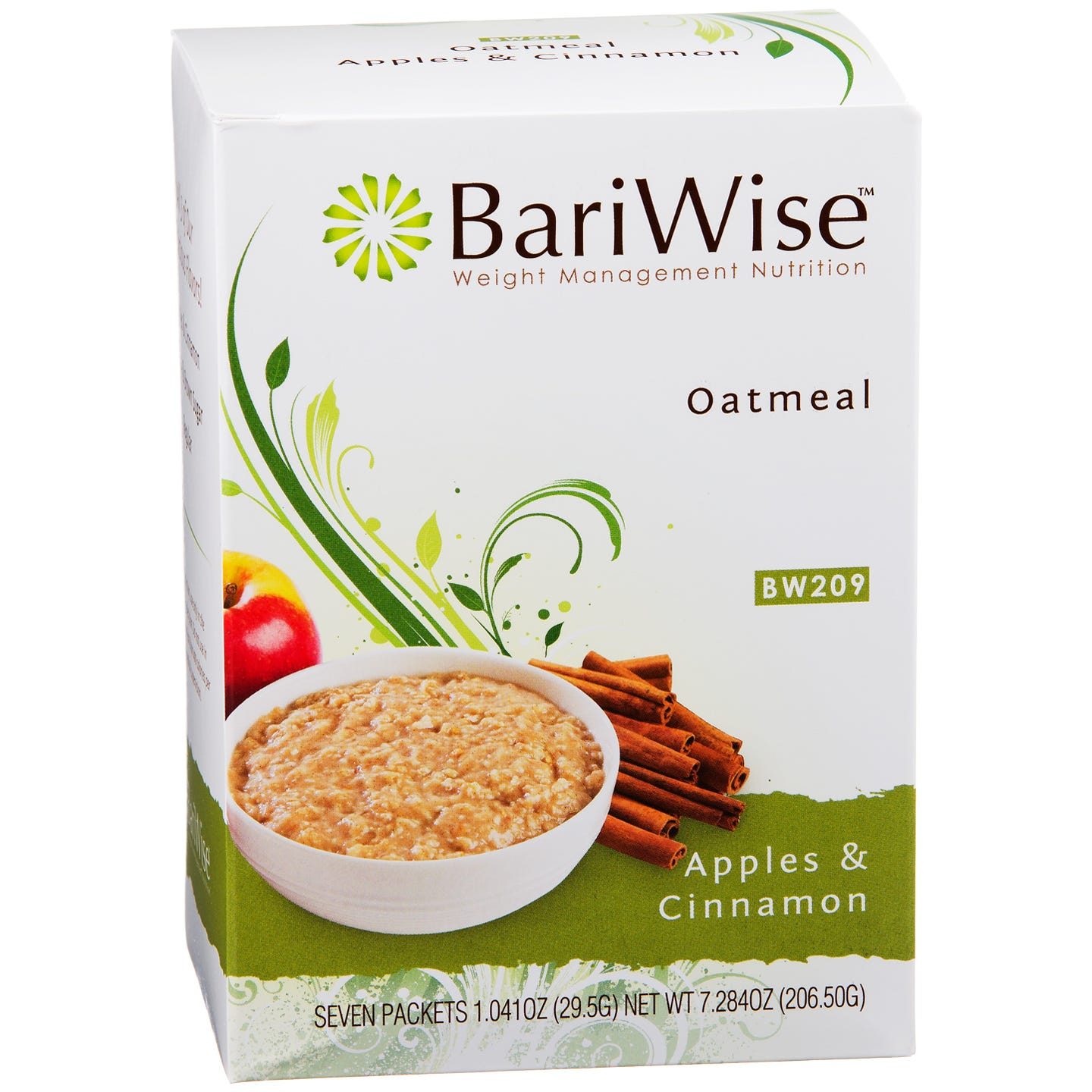 Protein Diet Hot Oatmeal Apples & Cinnamon (7 ct) - BariWise - Rapid Diet Weight Loss Products Shop