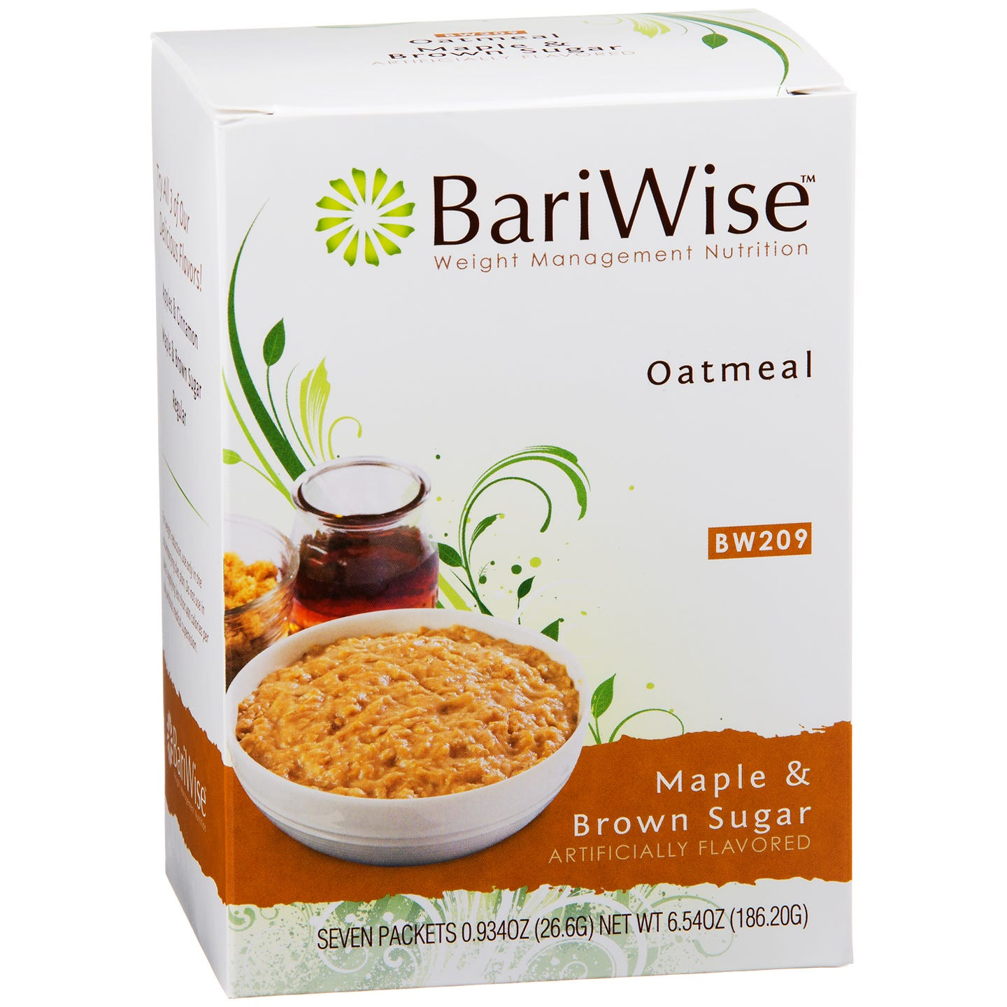 Protein Diet Hot Oatmeal Maple & Brown Sugar (7 ct) - BariWise - Rapid Diet Weight Loss Products Shop