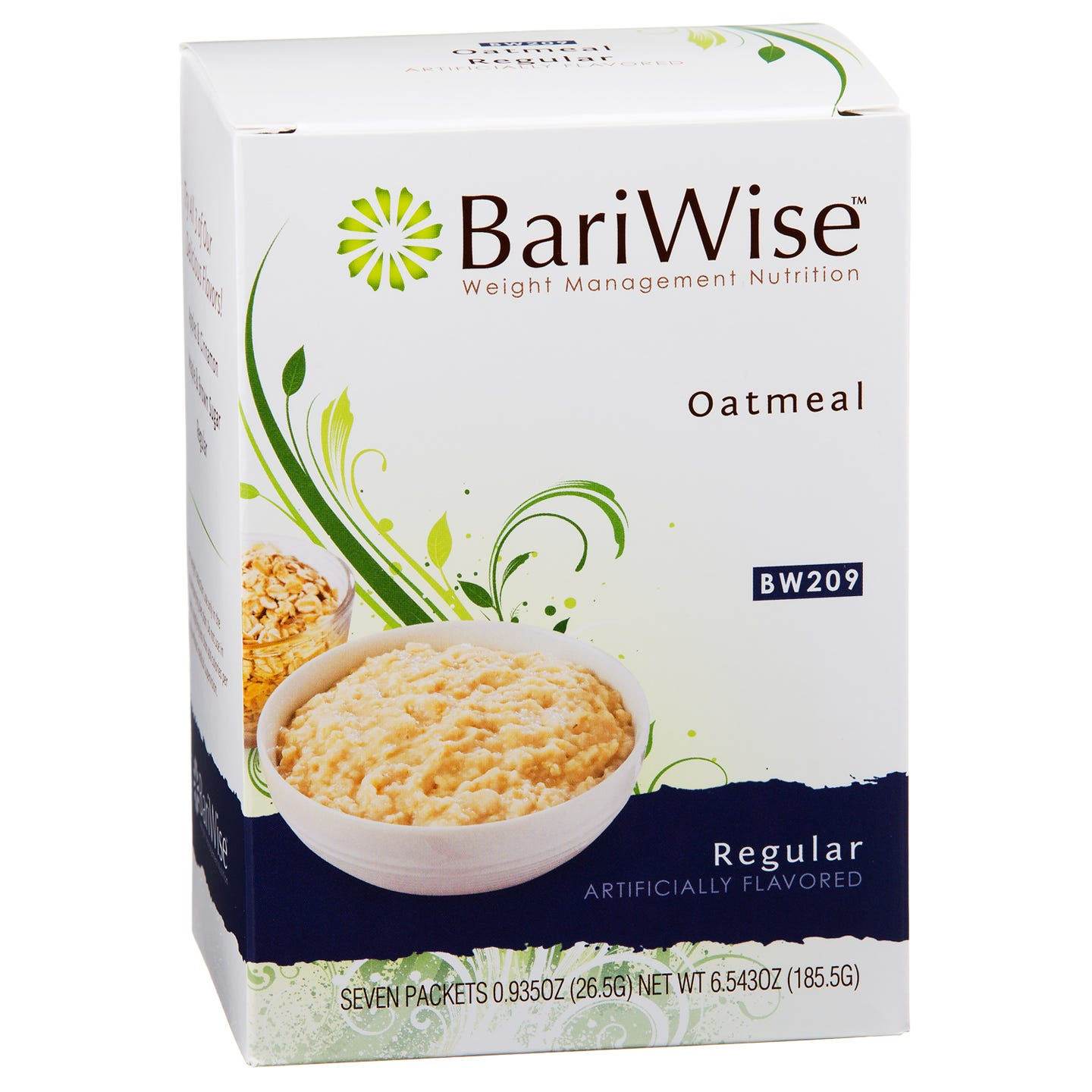 Protein Diet Hot Oatmeal Regular (7 ct) - BariWise - Rapid Diet Weight Loss Products Shop