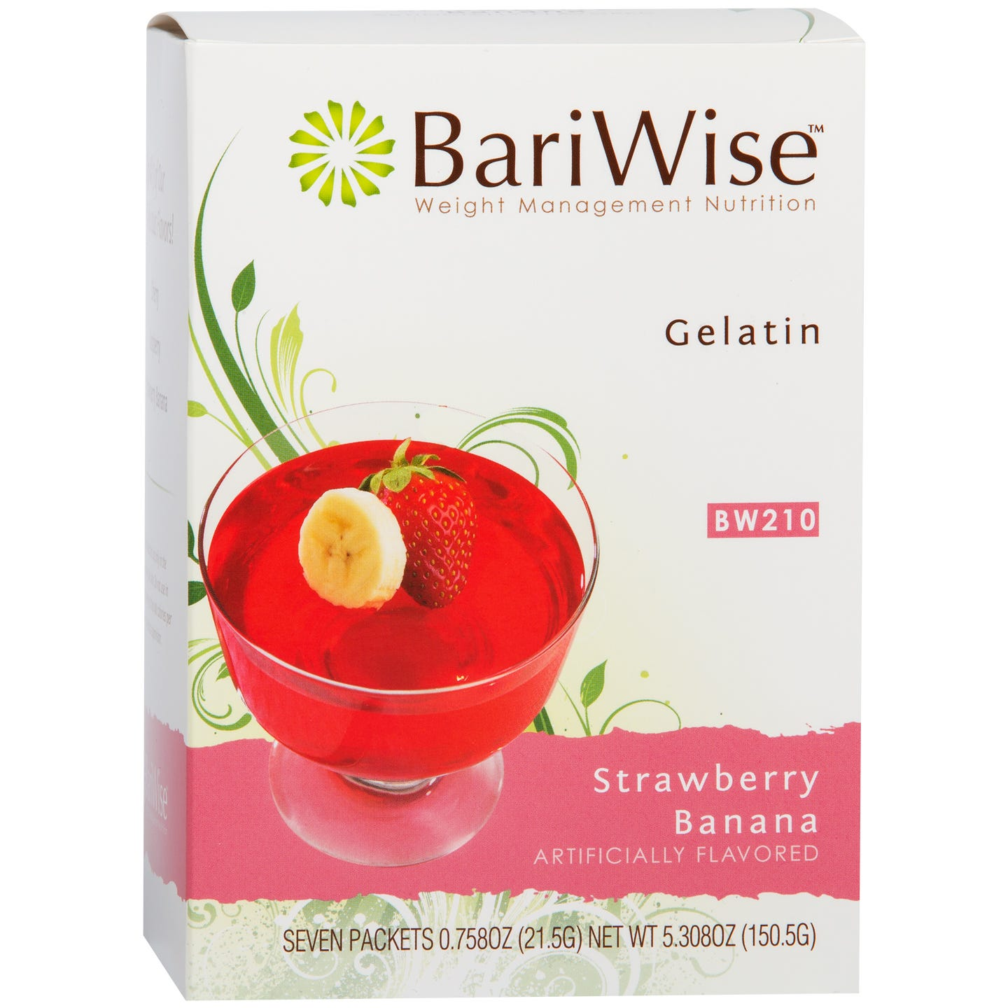 Protein Diet Gelatin Strawberry Banana (7 Ct) - BariWise