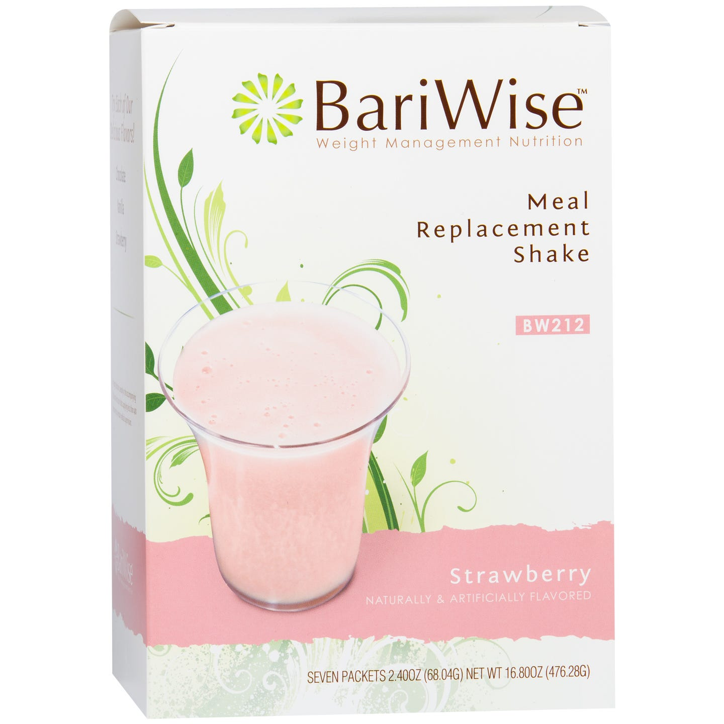 Meal Replacement 35g Protein Shake Strawberry (7 ct) - BariWise - Rapid Diet Weight Loss Products Shop