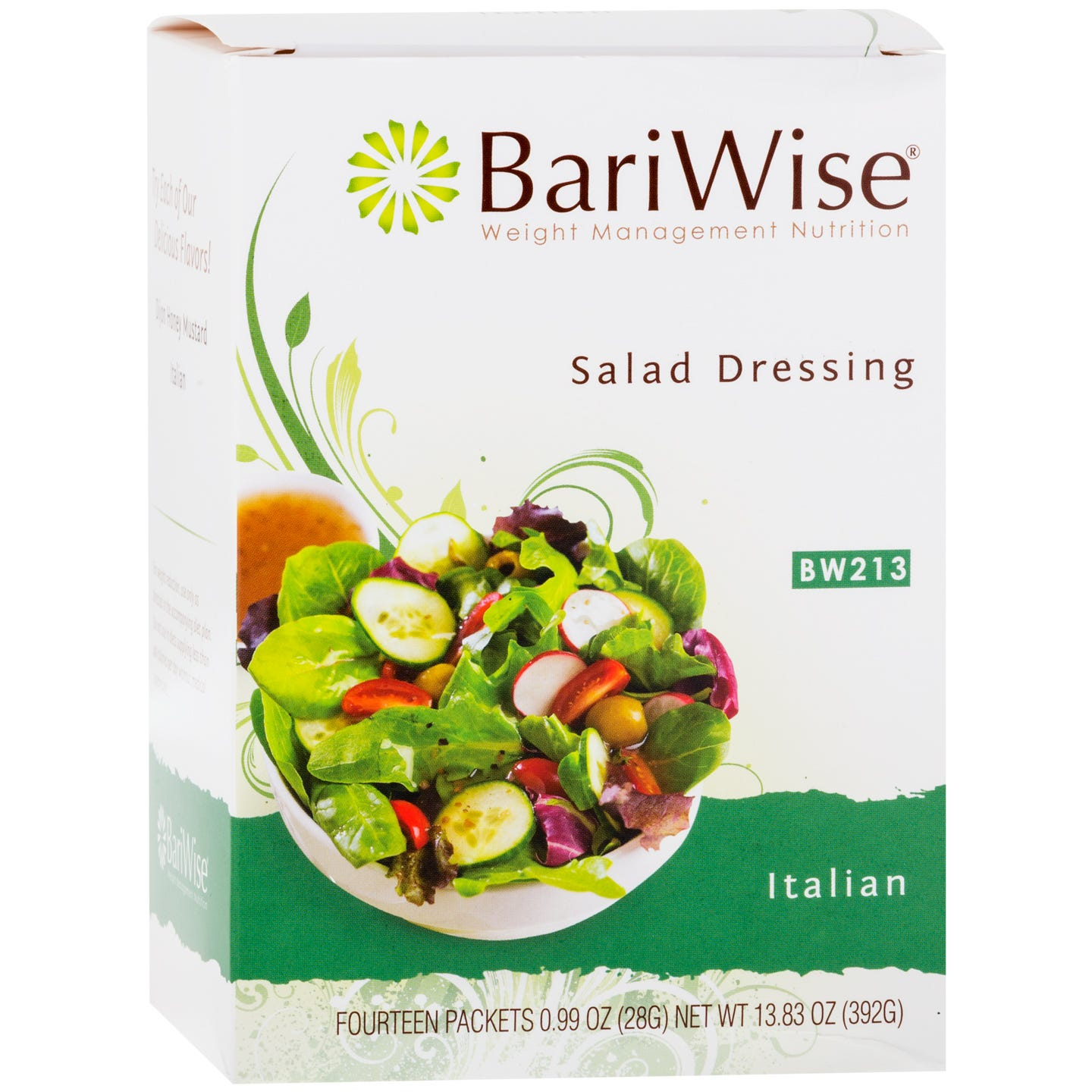 Fat-Free Diet Salad Dressing Italian (14 Ct) - BariWise