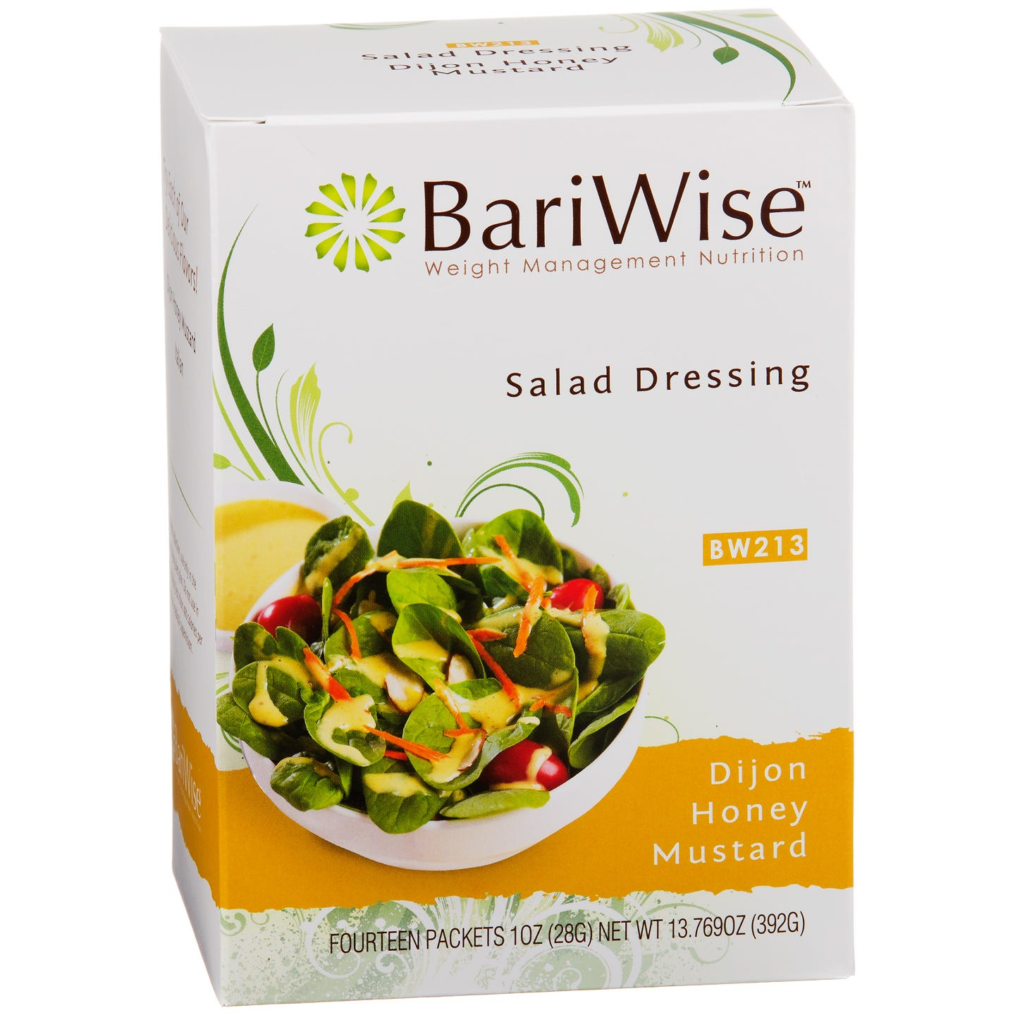 Fat-Free Diet Salad Dressing Honey Mustard (14 ct) - BariWise - Rapid Diet Weight Loss Products Shop