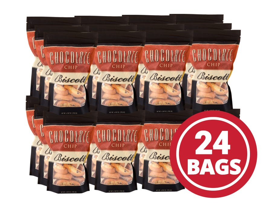 Fat-Free Biscotti Case Chocolate Chip (24 Ct) - BariWise