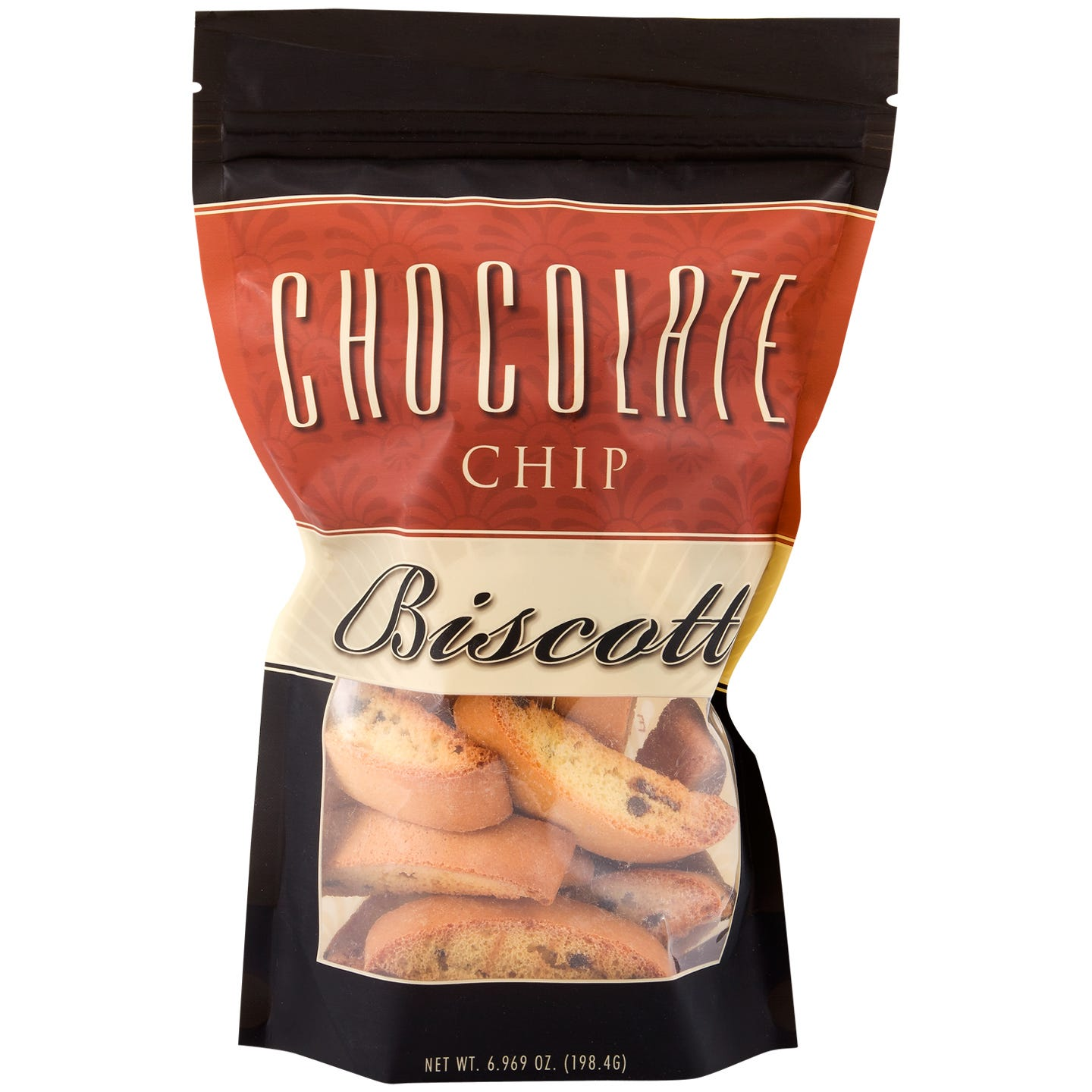 Fat-Free Biscotti Chocolate Chip 7 Oz Bag - BariWise