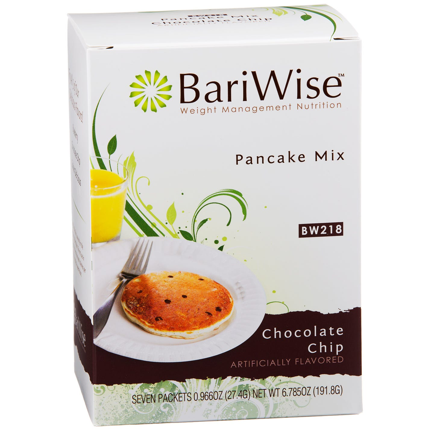 Protein Diet Pancake Mix Chocolate Chip (7 ct) - BariWise - Rapid Diet Weight Loss Products Shop