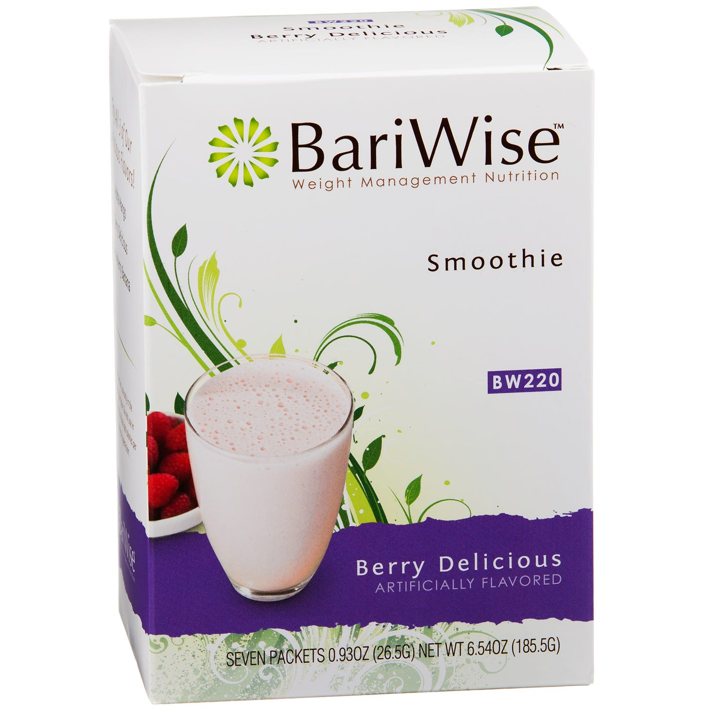 Protein Diet Fruit Smoothie Berry Delicious (7 ct) - BariWise - Rapid Diet Weight Loss Products Shop