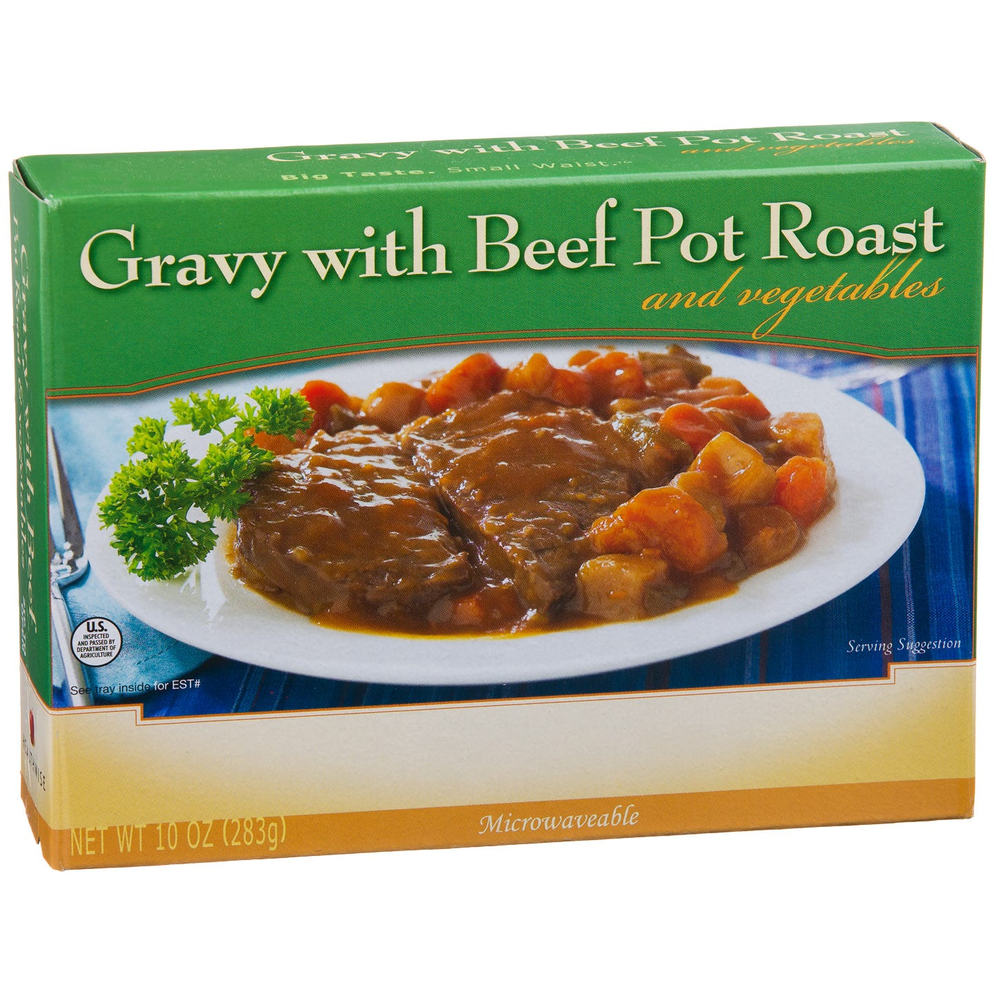 Low Calorie Meal Gravy With Beef Pot Roast 8 Oz  BariWise