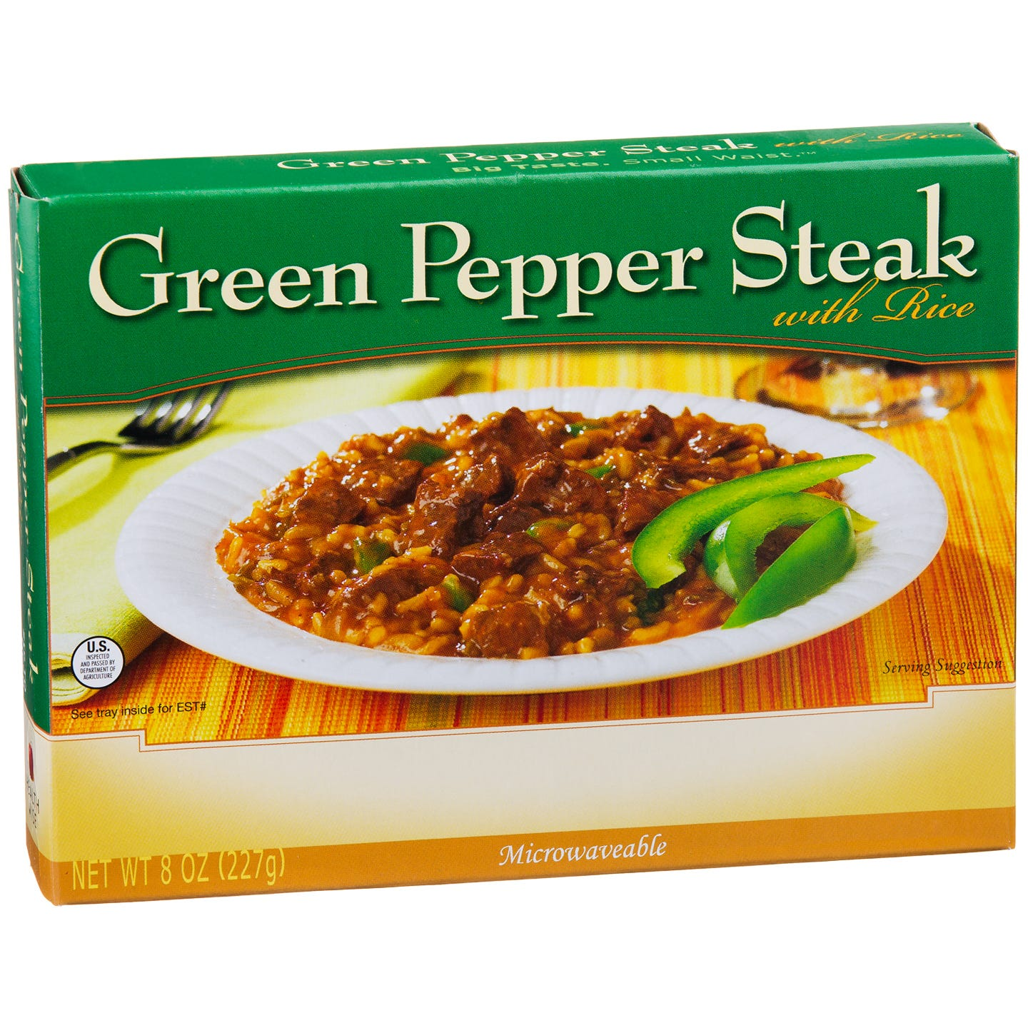 Low Calorie Meal Green Pepper Steak With Rice 8 Oz  BariWise