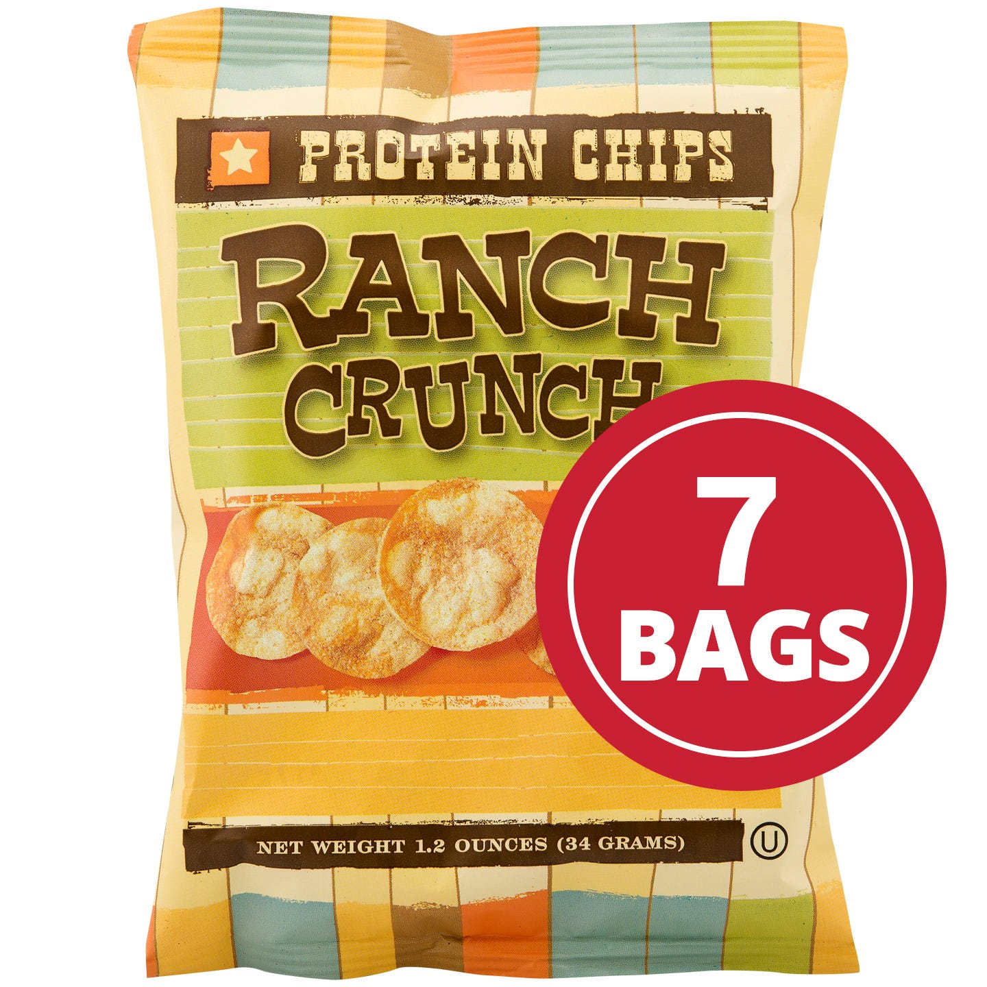 Protein Potato Chips Ranch (7 Ct) - BariWise