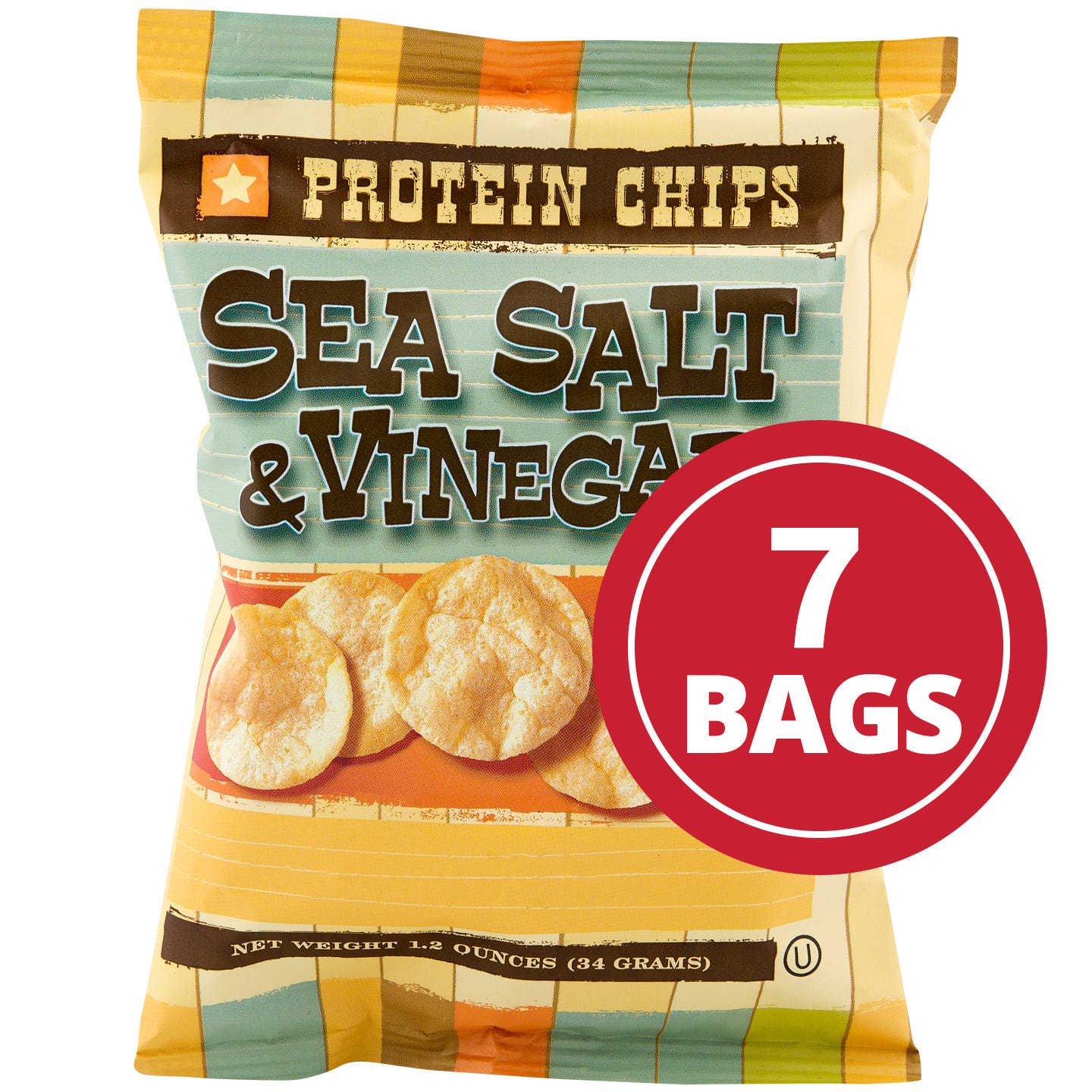 Protein Potato Chips Sea Salt and Vinegar (7 Ct) - BariWise