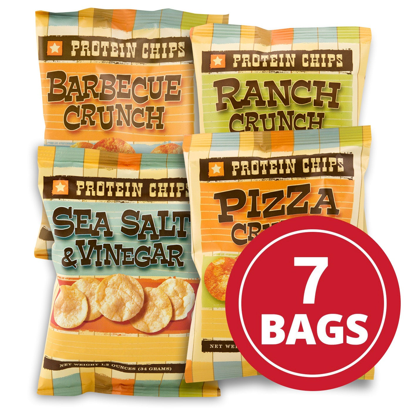 Protein Potato Chips Variety Pack (7 ct) - BariWise