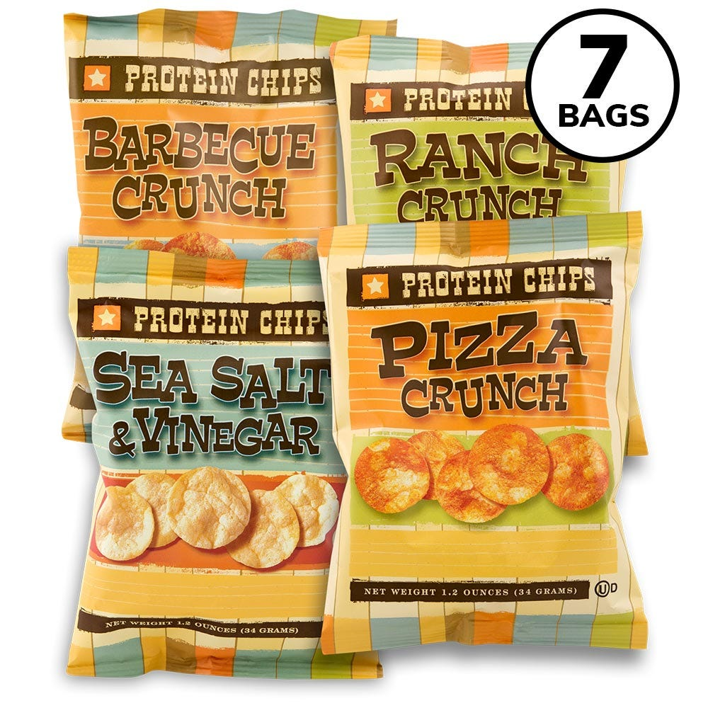 BariWise Protein Potato Chips, Variety Pack (7ct)