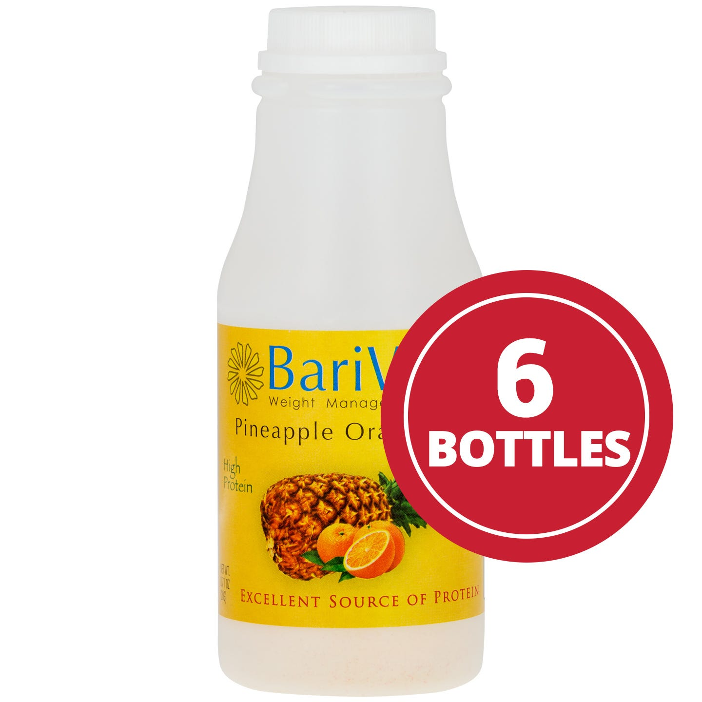 Bariwise Instant Protein Drink Pineapple Orange (6 Ct) - BariWise