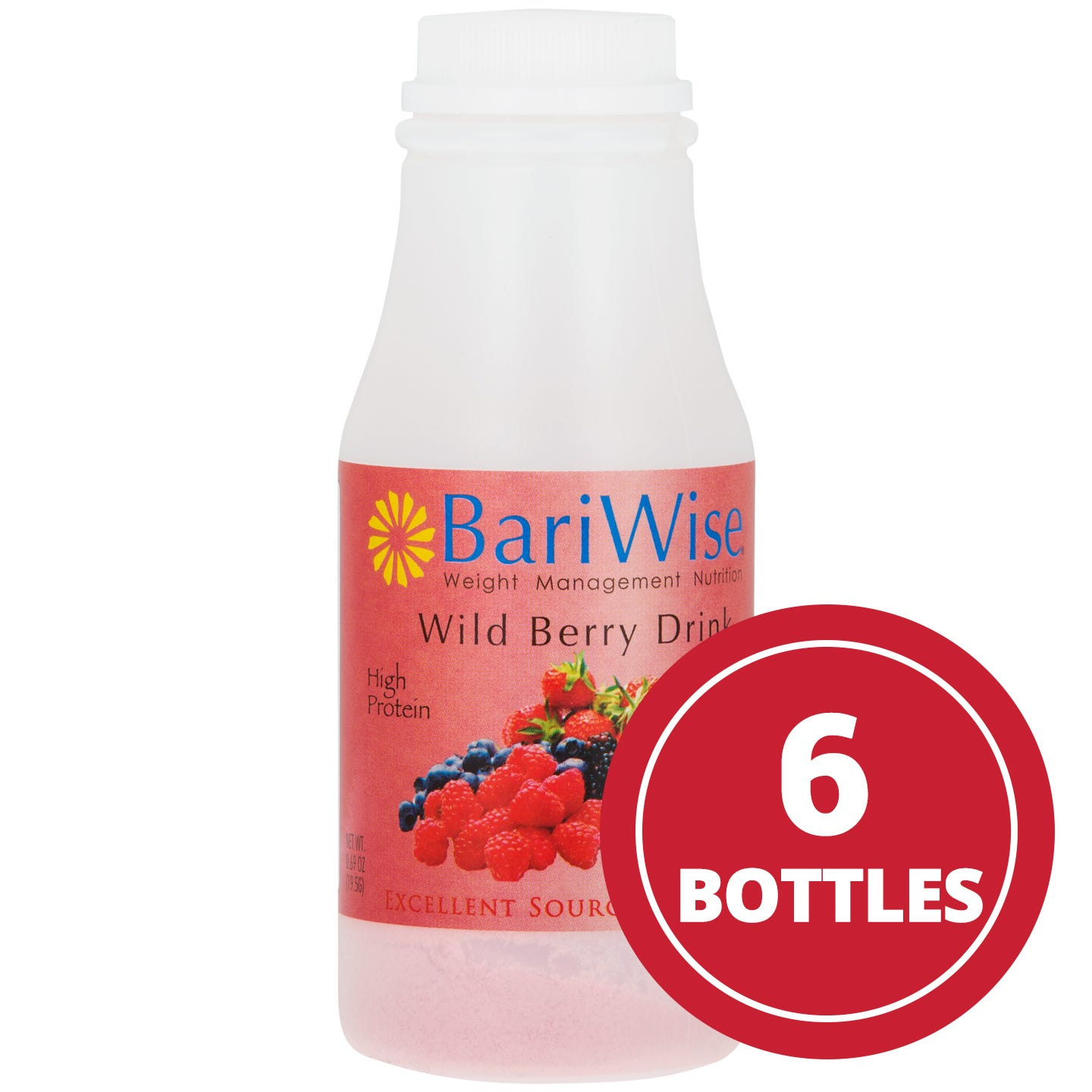 Instant Protein Drinks Wild Berry (6 Ct) - BariWise