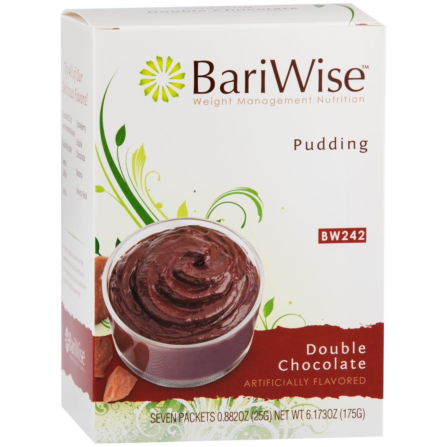 Diet Protein Pudding Double Chocolate (7 Ct) - BariWise