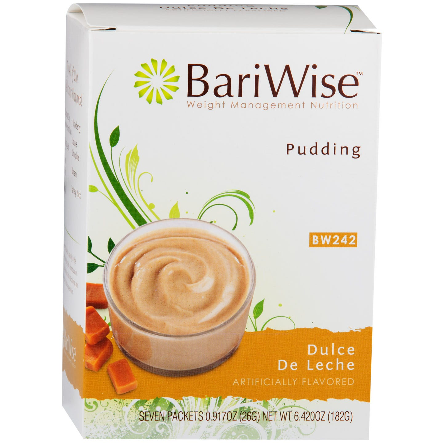 Diet Protein Pudding Dulce De Leche (7 ct) - BariWise - Rapid Diet Weight Loss Products Shop