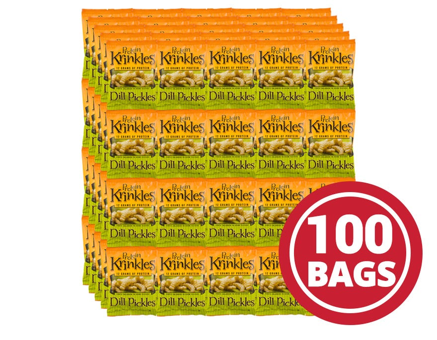 Protein Krinkles Case Dill Pickle (100 Ct) - BariWise