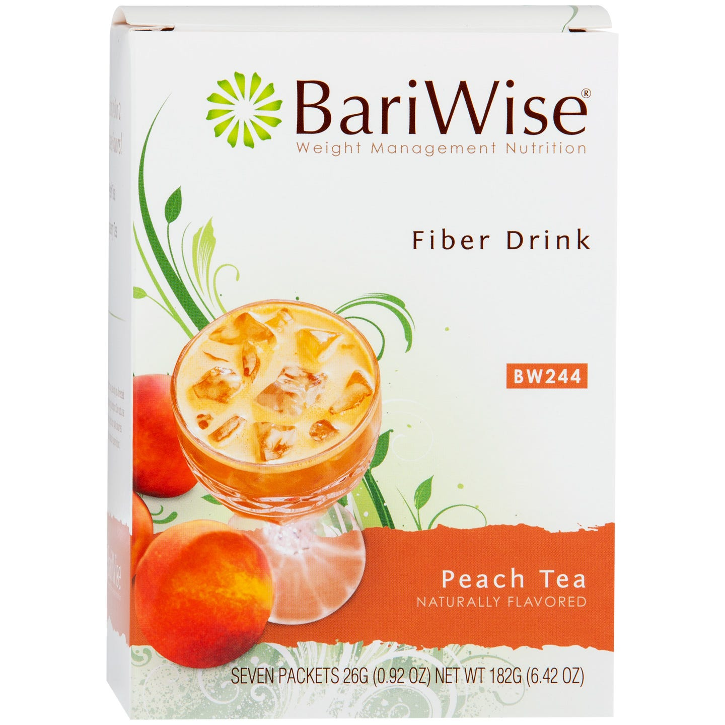 Fiber Drink Peach Tea (7 Ct) - BariWise