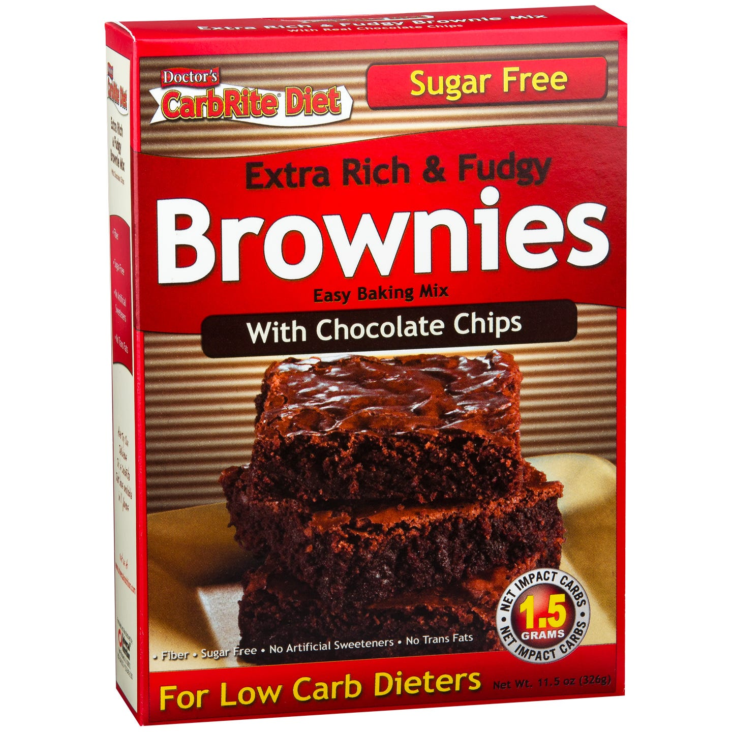Chocolate Chip Brownie Mix 11.5 oz, Doctor's CarbRite Diet - Rapid Diet Weight Loss Products Shop