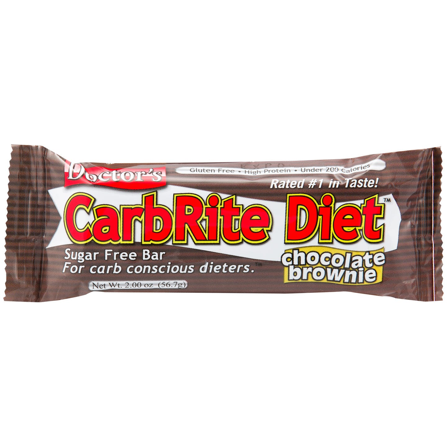 Doctor's CarbRite Diet Protein Bars - Chocolate Brownie