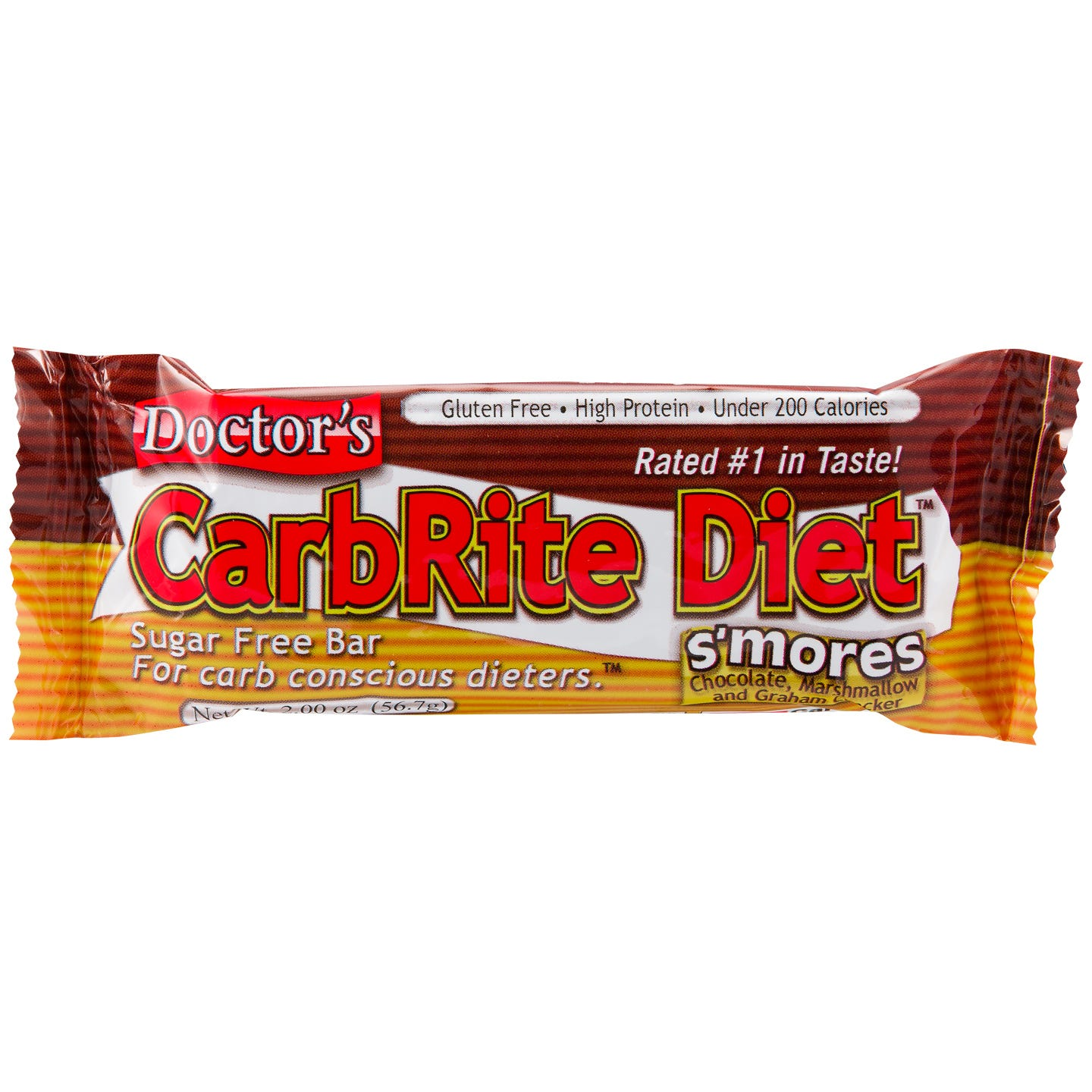 Doctor's CarbRite Diet Protein Bars - S'mores