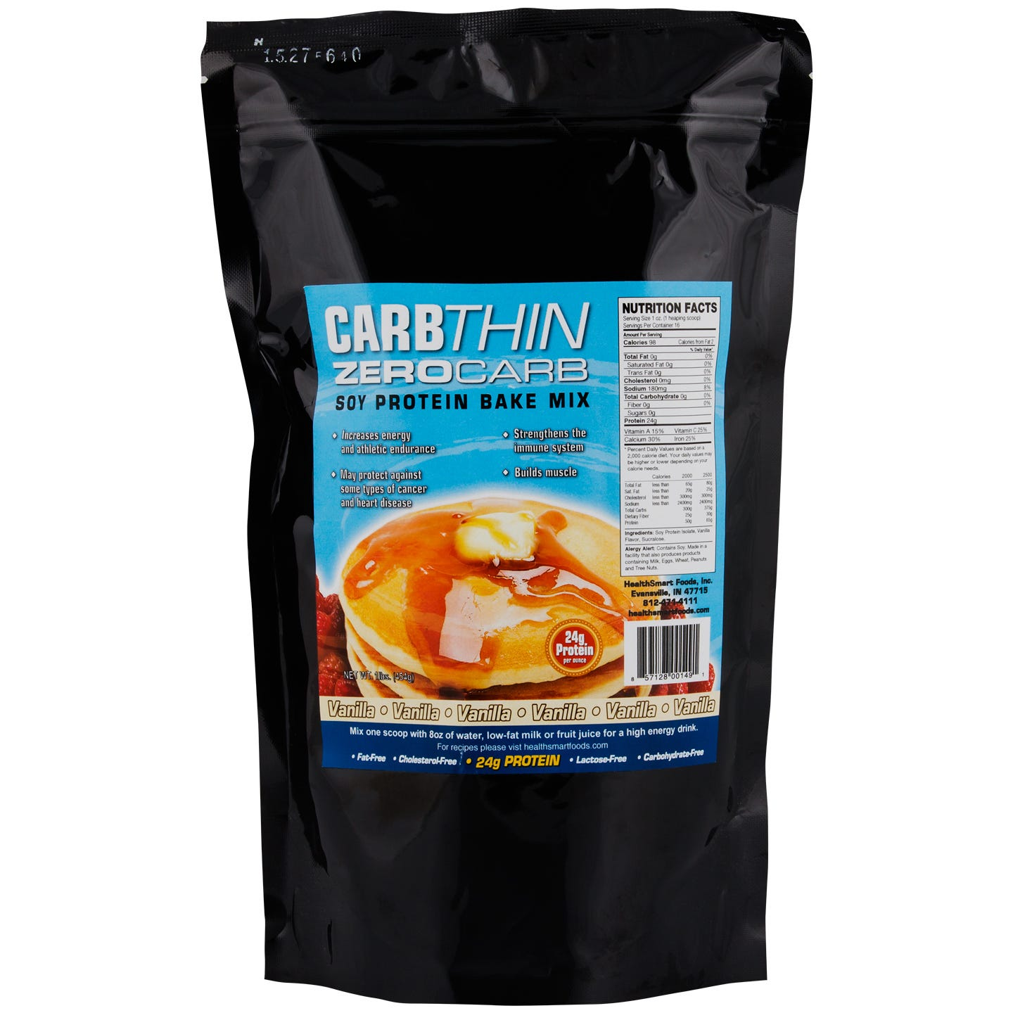 Zero Carb Soy Protein Bake Mix, Vanilla - 1 lb, CarbThin - Rapid Diet Weight Loss Products Shop