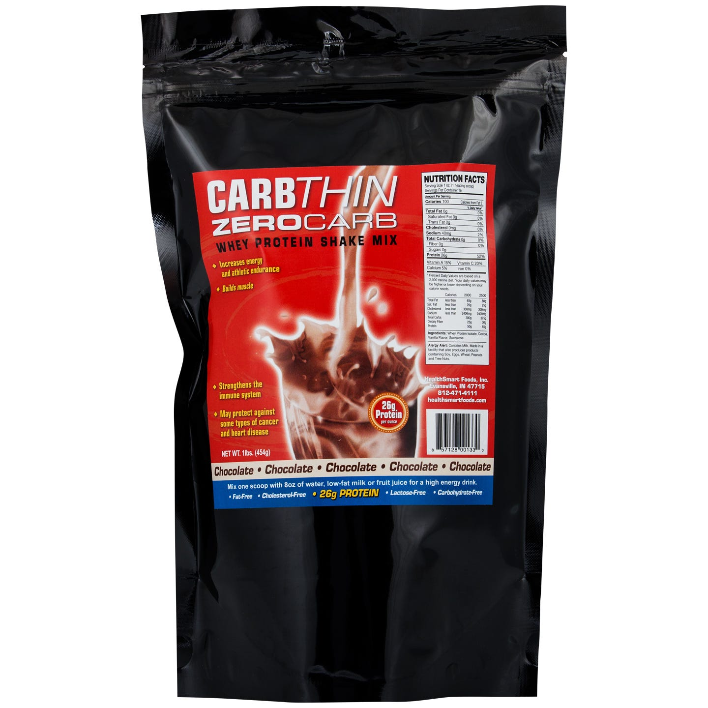 Zero Carb Whey Protein Shake Mix, Chocolate - 1 lb, CarbThin - Rapid Diet Weight Loss Products Shop