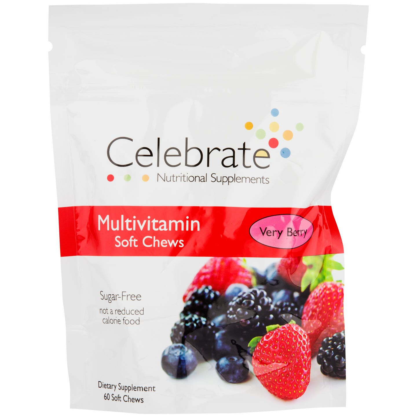 Multivitamin Soft Chews Very Berry (60 Chews) - Celebrate - Rapid Diet Weight Loss Products Shop