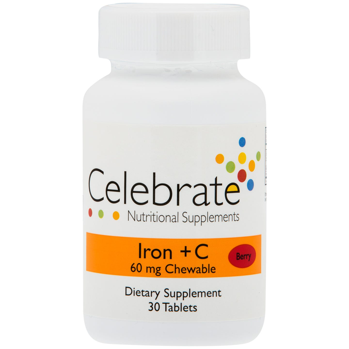 Iron+C 60 mg Chewable Berry (30 ct) - Celebrate - Rapid Diet Weight Loss Products Shop