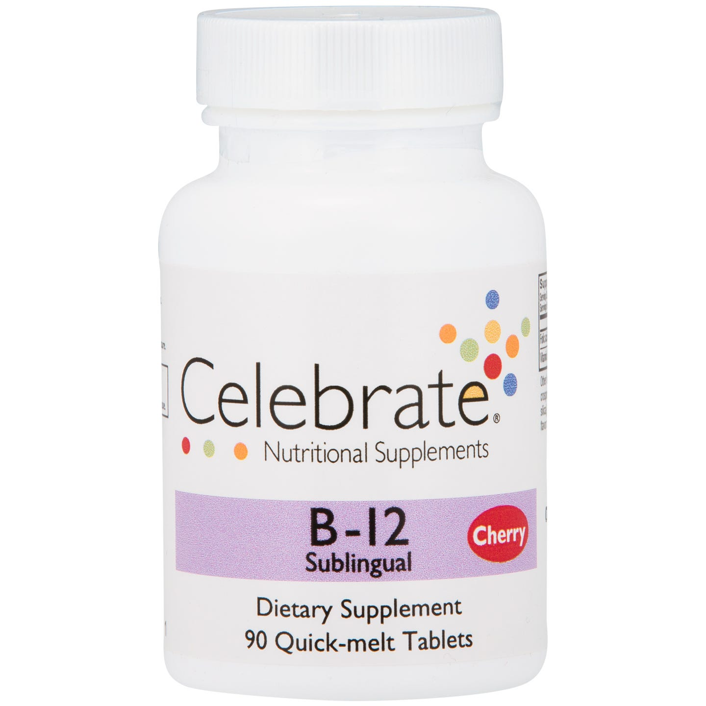 B12 Sublingual Cherry (90 ct) - Celebrate - Rapid Diet Weight Loss Products Shop