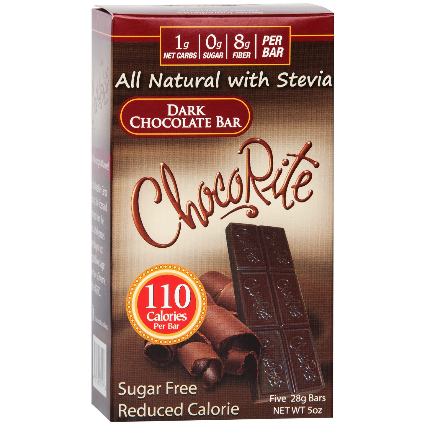 Natural Bar Dark Chocolate (5 ct) - ChocoRite - Rapid Diet Weight Loss Products Shop