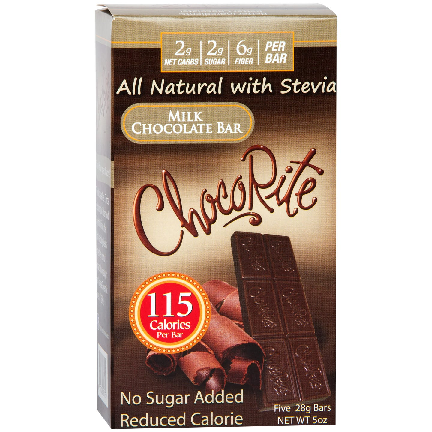 Natural Bar Milk Chocolate (5 ct) - ChocoRite - Rapid Diet Weight Loss Products Shop