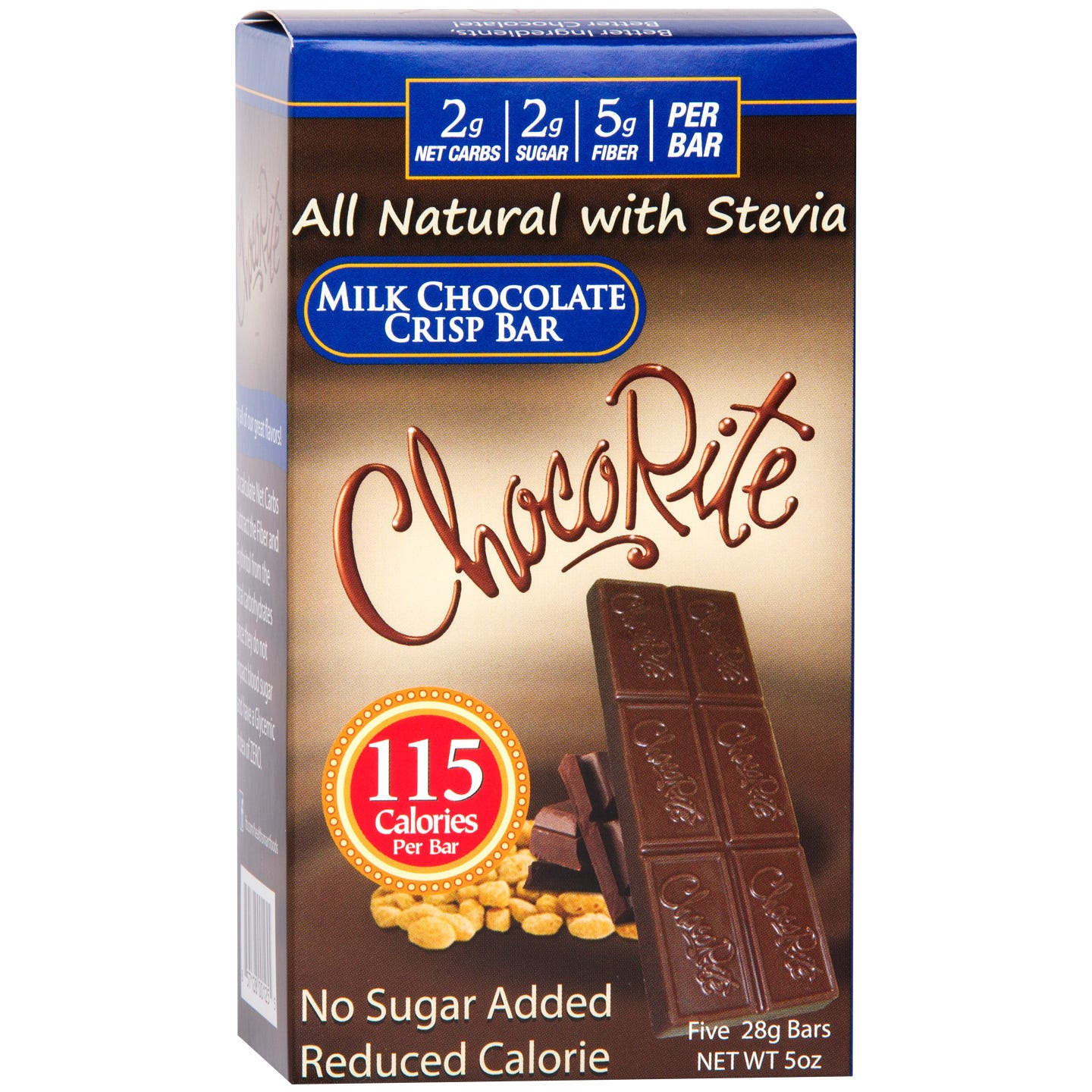Natural Bar Milk Chocolate Crisp (5 ct) - ChocoRite - Rapid Diet Weight Loss Products Shop