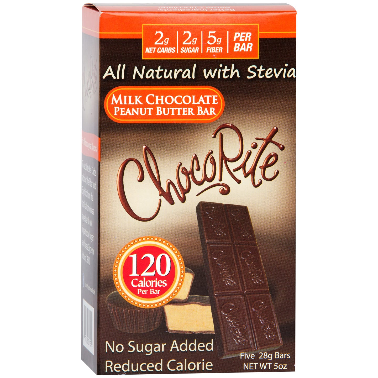 Natural Bar Milk Chocolate Peanut Butter (5 ct) - ChocoRite - Rapid Diet Weight Loss Products Shop