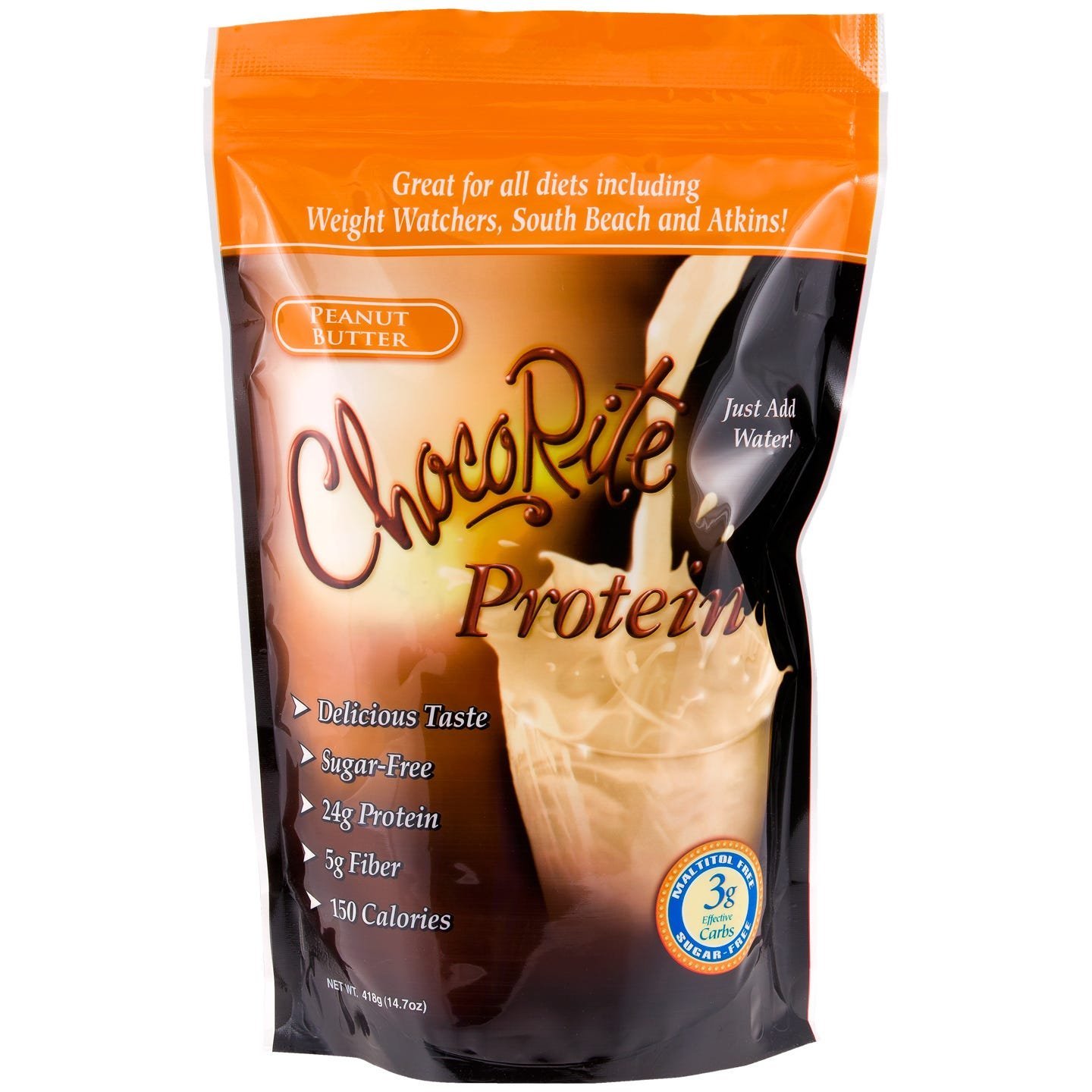Chocorite Sugar-Free Protein Shake Mix - Peanut Butter