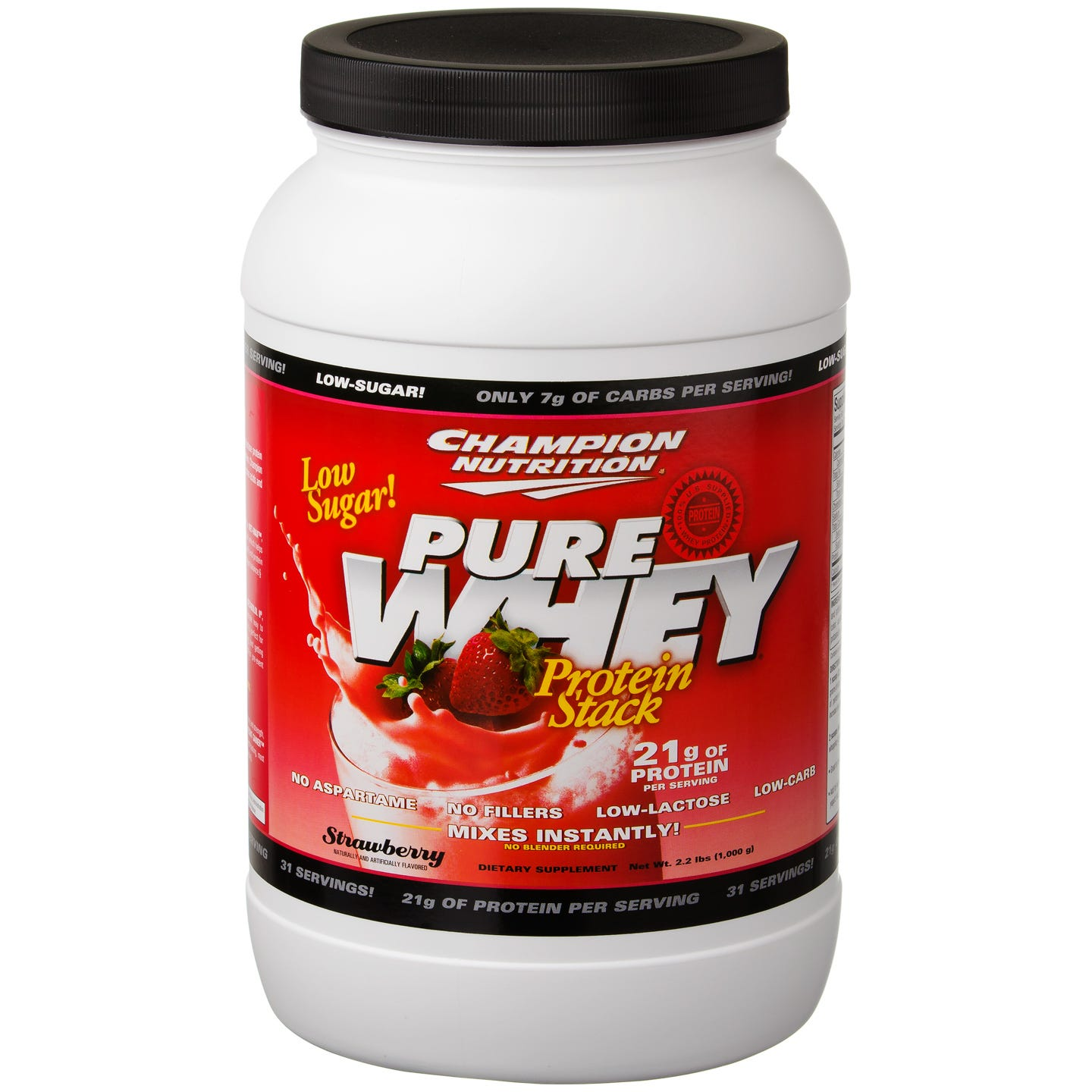 Champion Nutrition Pure Whey Protein Stack - Strawberry