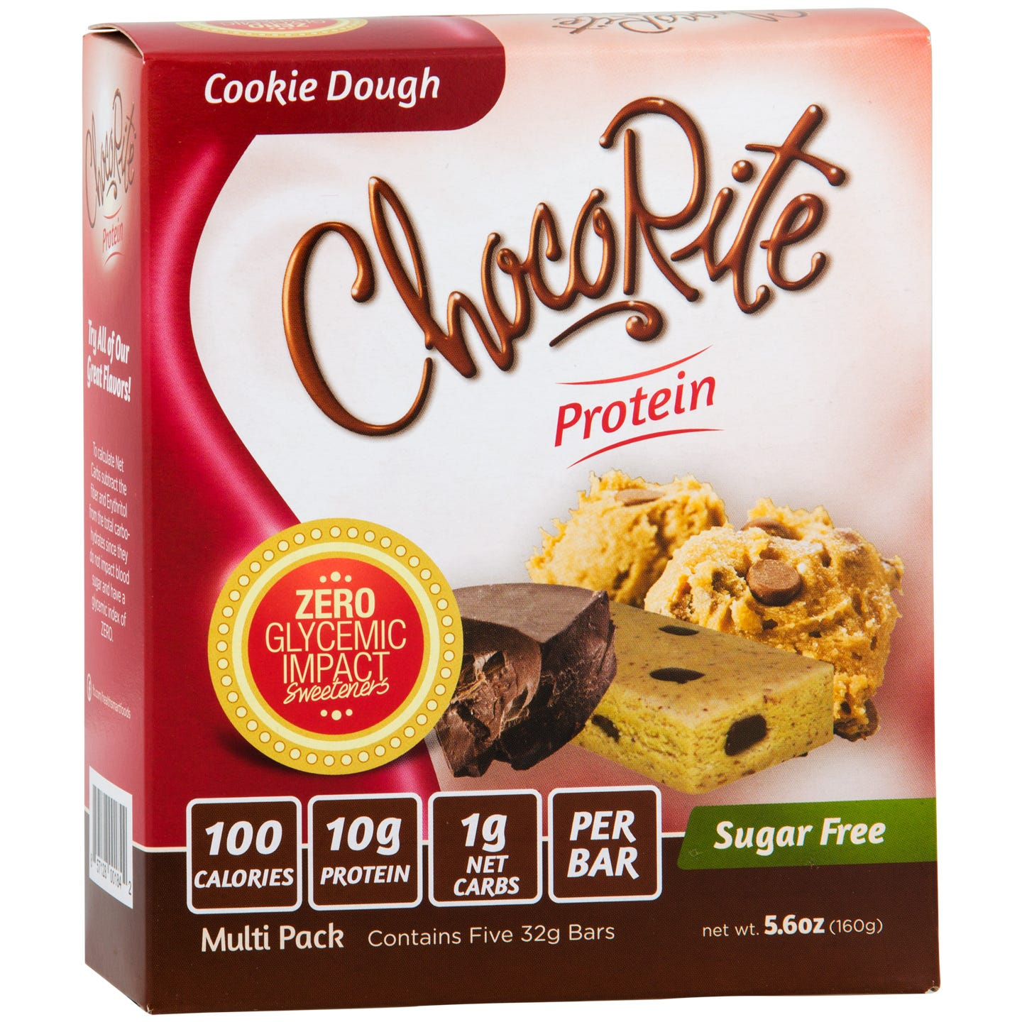 Sugar Free Protein Bar, Cookie Dough (5 Bars) - ChocoRite - Rapid Diet Weight Loss Products Shop