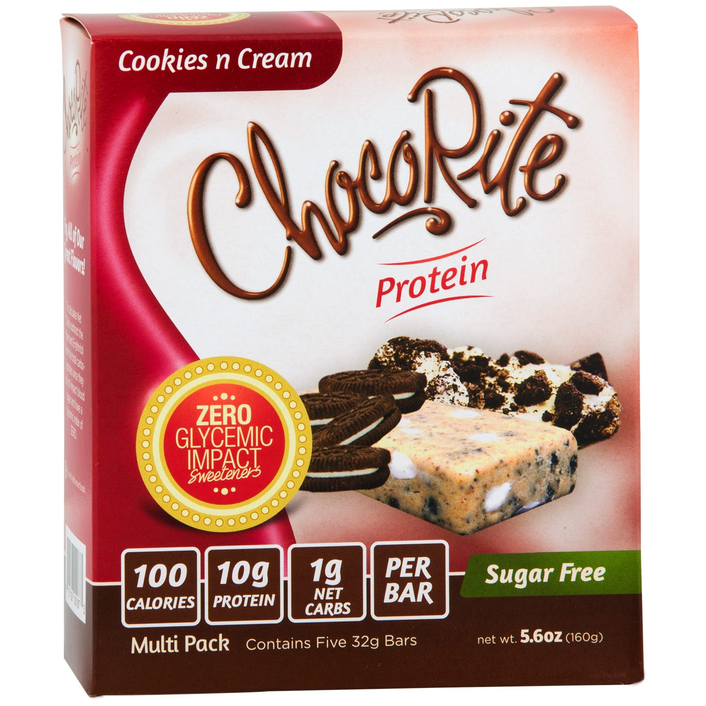 Sugar Free Protein Bar, Cookies n Cream (5 Bars) - ChocoRite - Rapid Diet Weight Loss Products Shop