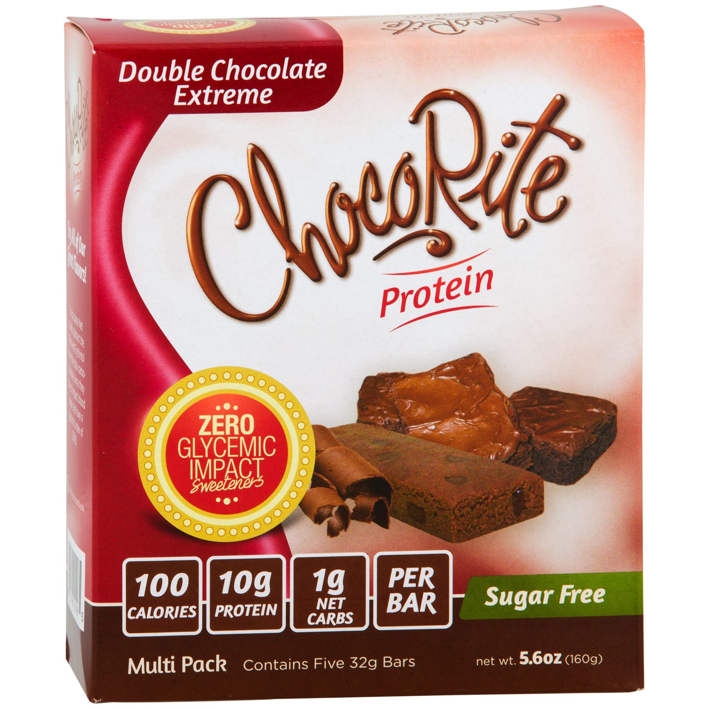 Sugar Free Protein Bar, Double Chocolate Extreme (5 Bars) – ChocoRite