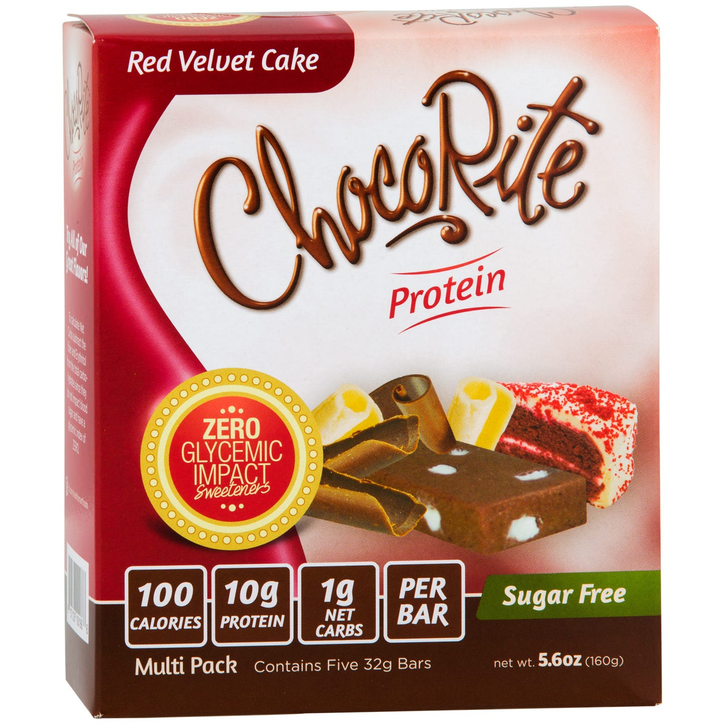 Sugar Free Protein Bar, Red Velvet Cake (5 Bars) - ChocoRite - Rapid Diet Weight Loss Products Shop