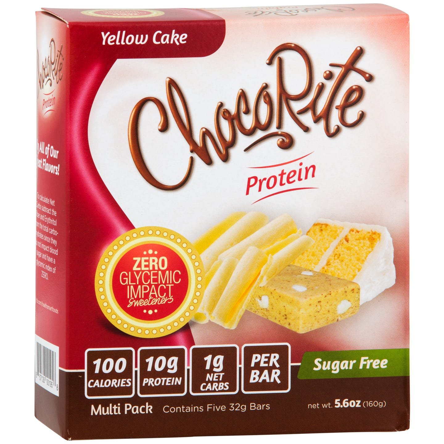 Sugar Free Protein Bar, Yellow Cake (5 Bars) - ChocoRite - Rapid Diet Weight Loss Products Shop