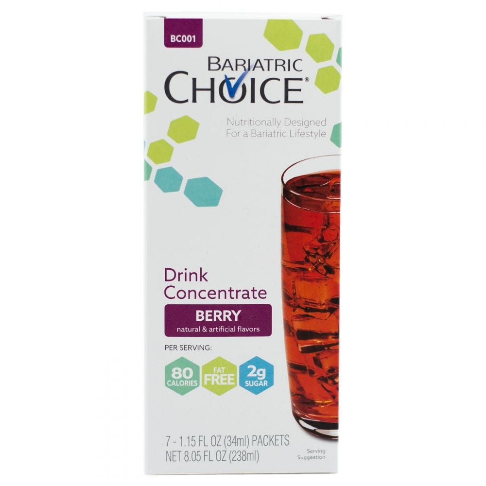 picture of Bariatric Choice Fruit Drink Concentrate Berry (7ct)