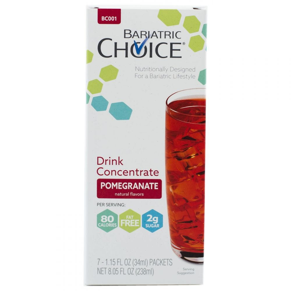 picture of Bariatric Choice Fruit Drink Concentrate Pomegranate (7ct)
