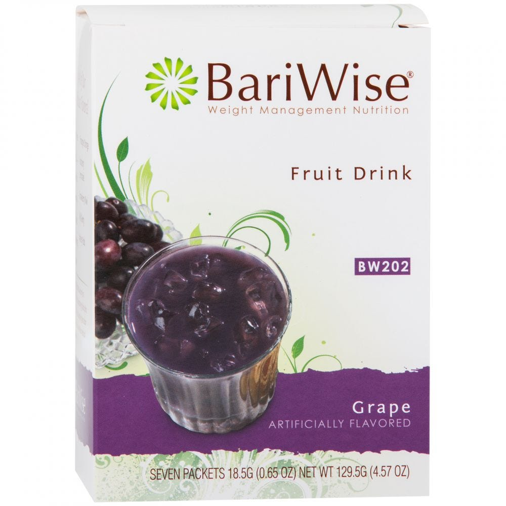 picture of BariWise Fruit Drink Grape (7ct)