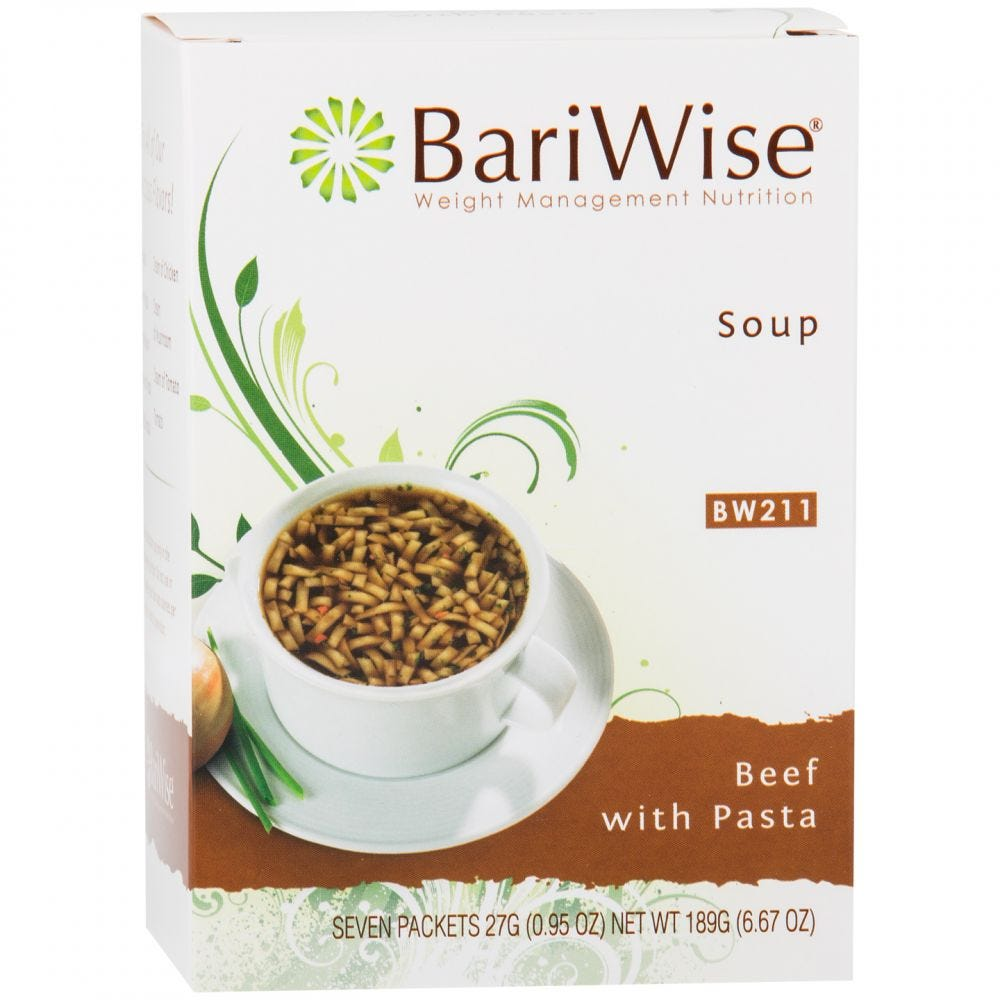 BariWise Soup Beef with Pasta (7ct)