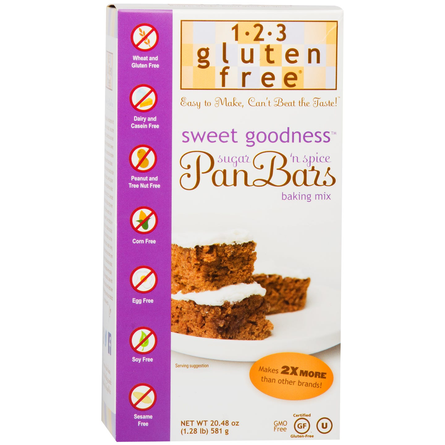 Gluten Free Pan Bars Mix, Sweet Goodness 20.48 oz - 123 Gluten Free - Rapid Diet Weight Loss Products Shop
