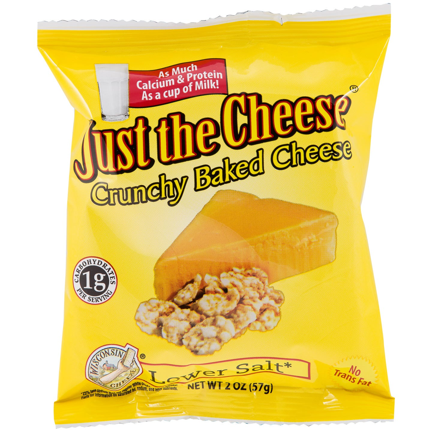 Just The Cheese Snacks - Lower Salt Cheddar