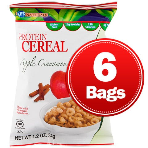 Protein Cereal Apple Cinnamon (6 ct) Kay's Naturals - Rapid Diet Weight Loss Products Shop